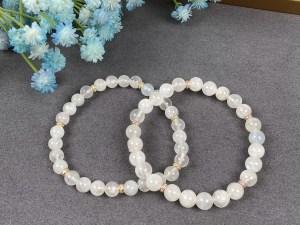 Moonstone Silver Stretch Bracelet