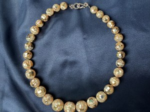 Mosaic White MOP/Abalone Collar Necklace