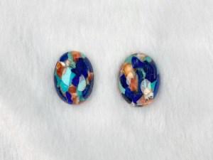 Oval Royal Blossom Stone Cabochons - Per Pair