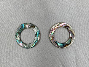 Round Hoop Abalone Shell Loose Piece - Per Pair