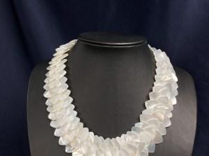 Teardrop Beads White MOP Necklace