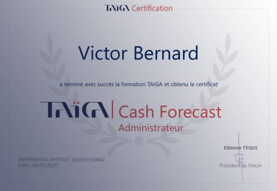 Certifications des formations chez TAIGA