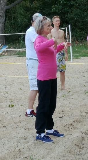 moja mama ćwiczy