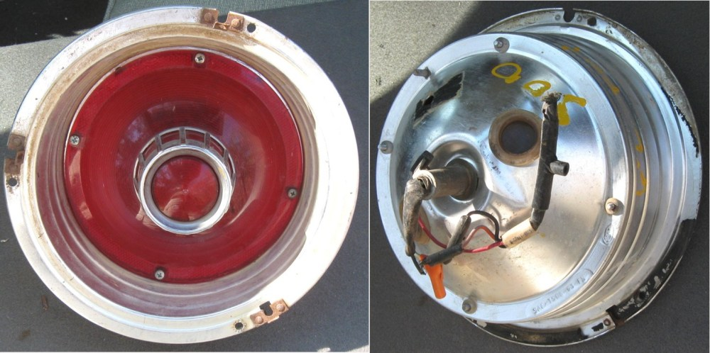 medium resolution of 63fd 63 taillight assembly galaxie galaxie 500 xl 10 diameter good condition without trim rings have 3
