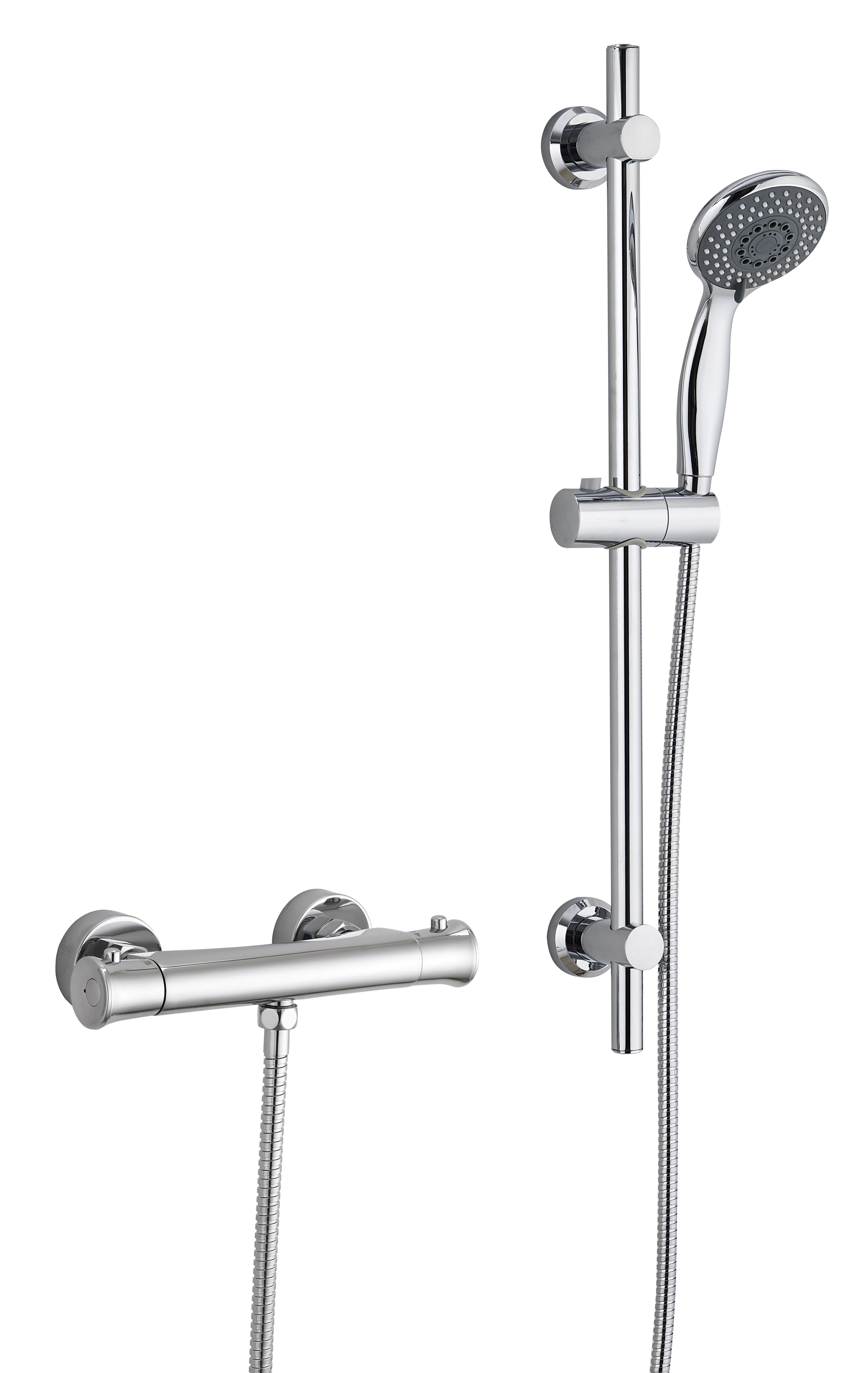 Thermostatic Exposed Shower Bar Valve Mixer Adjustable