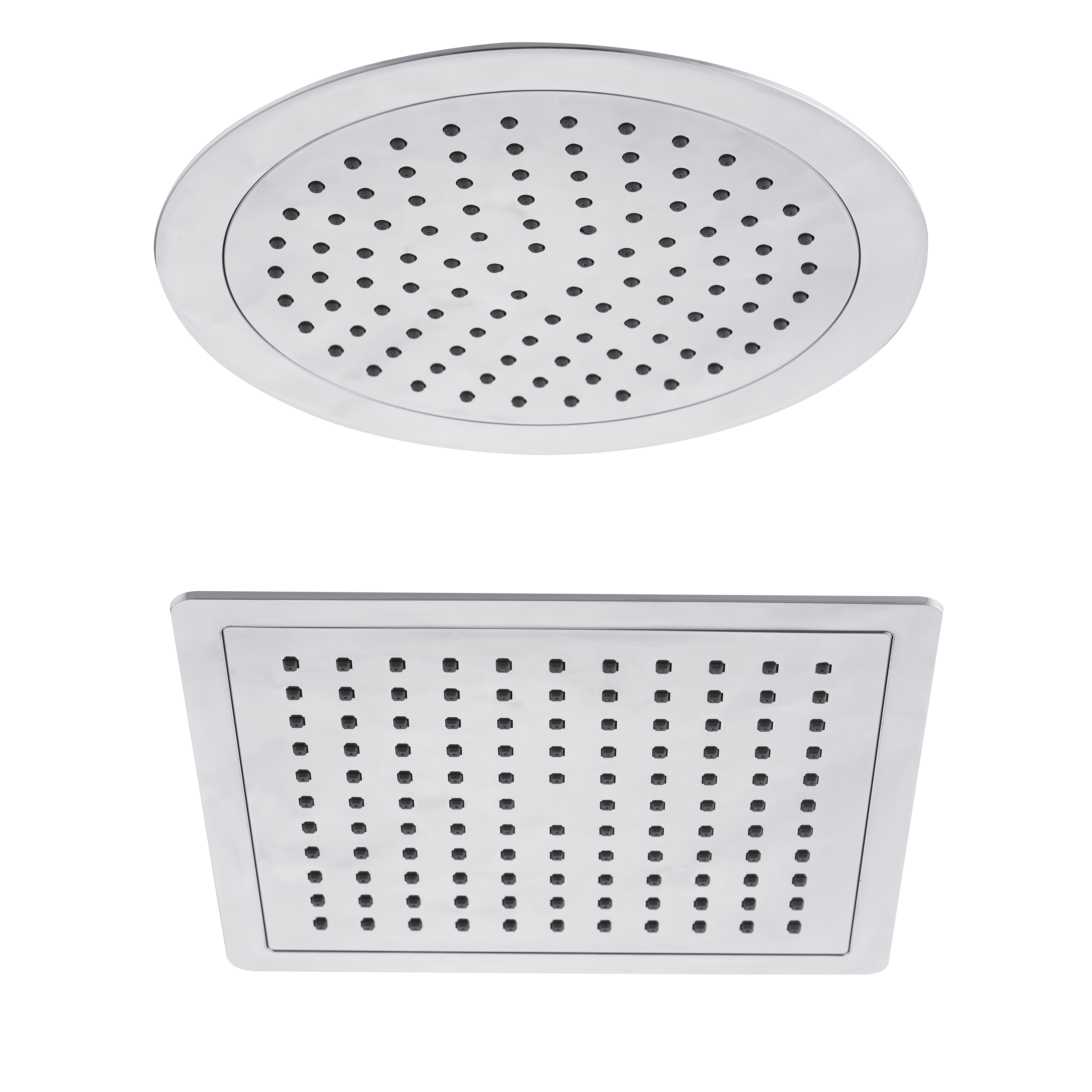 Details About Chrome Slim Round Square 200mm Overhead Rain Shower Head Swivel Joint 1 2 Bsp