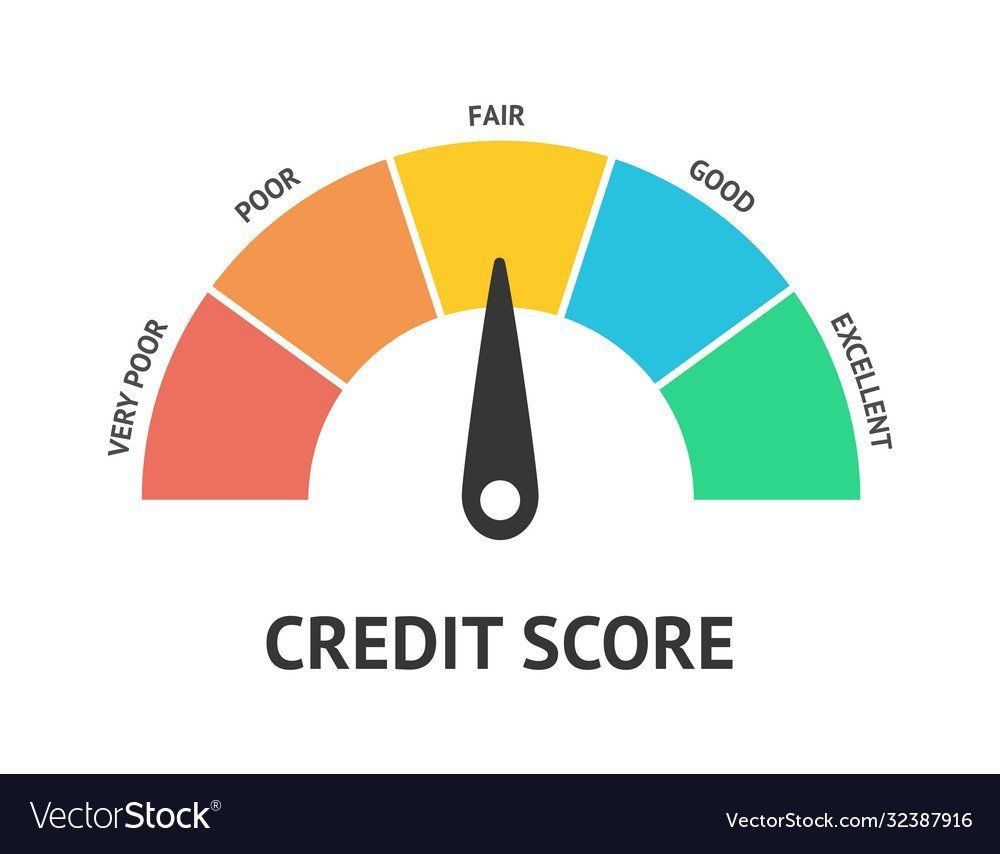 Colorful credit score wheel ranging from very poor to excellent