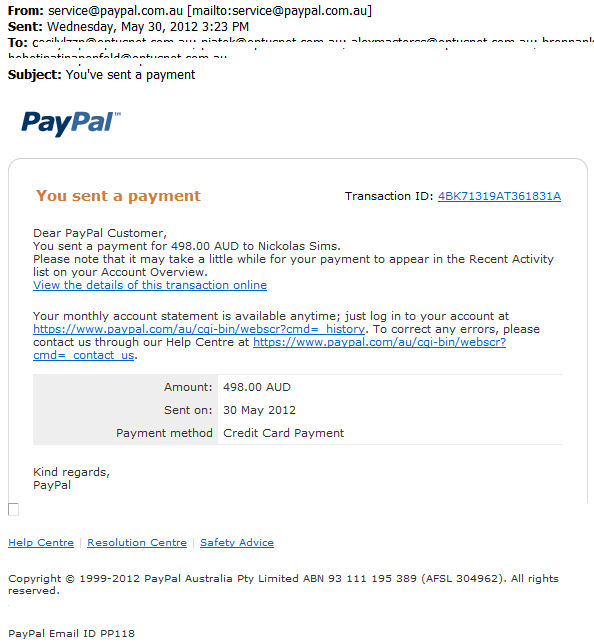 PayPal Email -