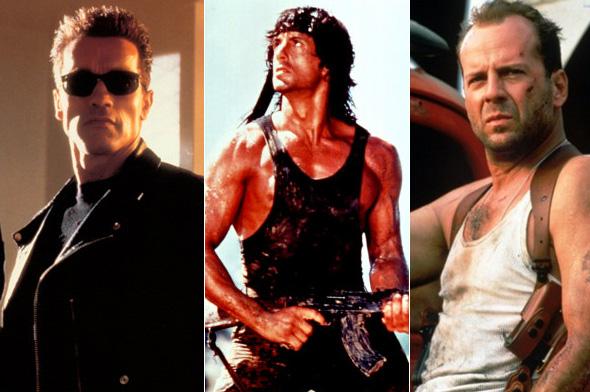 Arnold Schwarzenegger — Sylvester Stallone — Bruce Willis