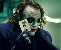 Heath Ledger is The Joker in 'The Dark Knight'