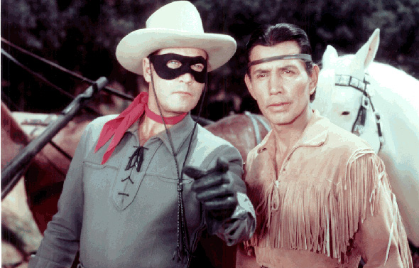 Original Lone Ranger (Clayton Moore Jr) and Tonto (Jay Silverheels)