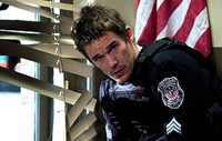 Ethan Hawke (pictured) fights to defend against dirty cops out to kill Laurence Fishburne in 2005's 'Assault on Precinct 13'