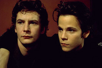 Ian Hart (left) is John Lennon and Stephen Dorff is Stuart Sutcliff in 'Backbeat'