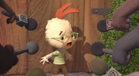 Zach Braff provides his voice as the title character in 'Chicken Little'