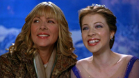 Kim Cattrall and Michelle Trachtenberg in 'Ice Princess'