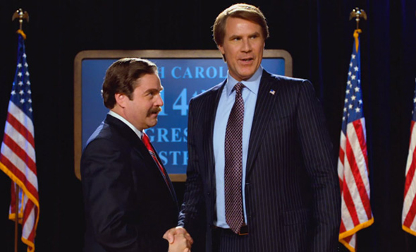 Will Ferrell and Zach Galifianakis in 'The Campaign'