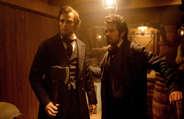 Benjamin Walker (left) and Dominic Cooper in 'Abraham Lincoln Vampire Hunter'