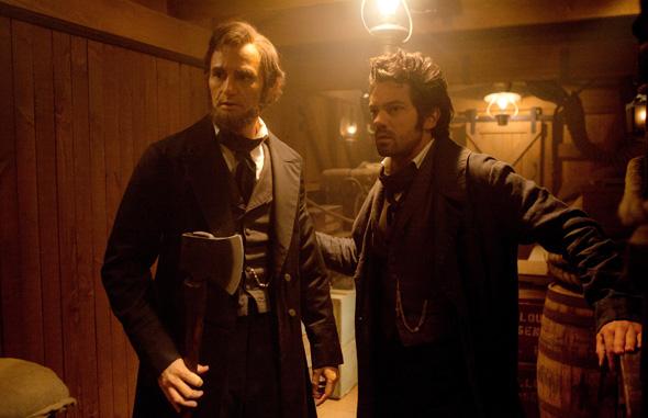 Benjamin Walker (left) and Dominic Cooper in 'Abraham Lincoln Vampire Hunter'