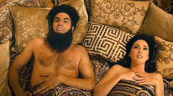 Sasha Baron Cohen and Megan Fox in 'The Dictator'