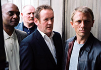 Left to right: George Harris, Colm Meaney and Daniel Craig co-star in 'Layer Cake'