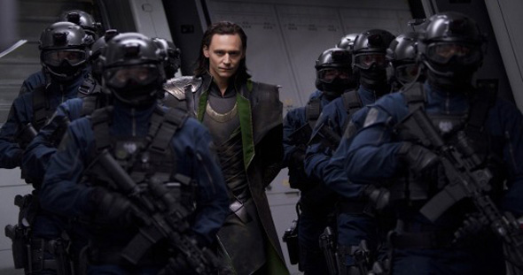 Tom Hiddleston is Loki in 'The Avengers'