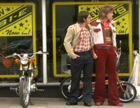Kris Scholes (right) and Scott Whitley dream of getting a moped in Fizzy Days.
