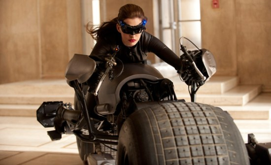 Anne Hathaway as Selina Kyle, also known as Catwoman, in 'The Dark Knight Rises'
