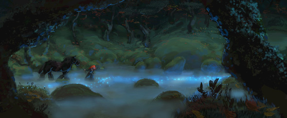 Merida enters a magical forest in 'Brave'