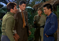James Darren (left) and Robert Colbert (2nd from left) find themselves trapped in the past