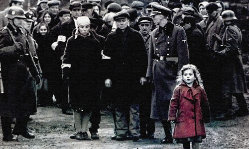 The girl in red in 'Schindler's List'