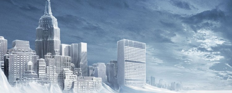The Earth freezes over in environmental disaster flick, 'The Day After Tomorrow'