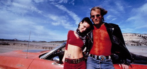 Woody Harrelson and Juliette Lewis are Mickie and Mallory, respectively, in 'Natural Born Killers'