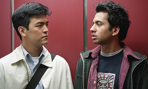 John Cho and Kal Penn get high in 'Harold & Kumar Go To White Castle'