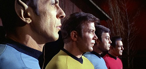 The big four of 'Star Trek': Spock, Kirk, Bones and Scotty