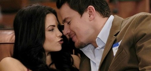 Channing Tatum co-stars with his real life wife, Jenna Dewan-Tatum, in '10 Years'