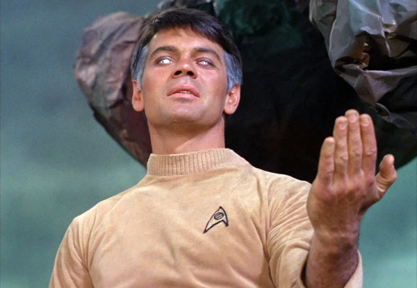 Gary Mitchell (Gary Lockwood) is consumed by power in 'Star Trek'