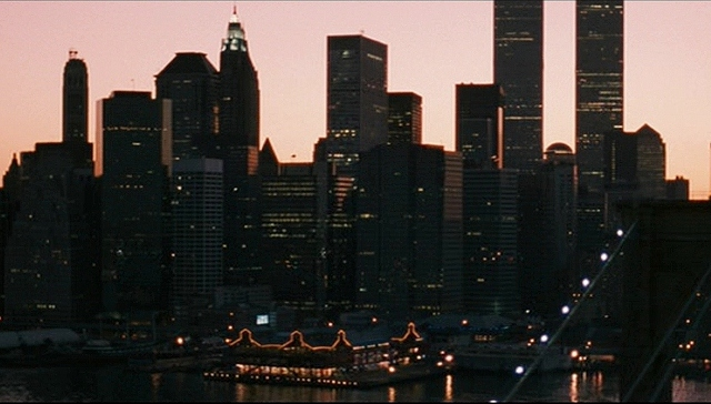 'Notorious' sets its time period with a shot of the World Trade Center towers