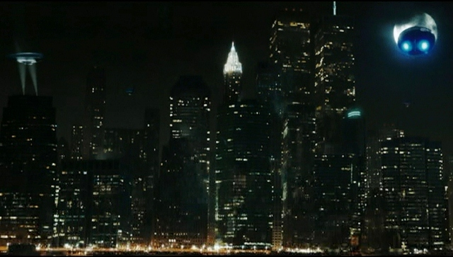 The Twin Towers are seen several times in 'Watchmen'