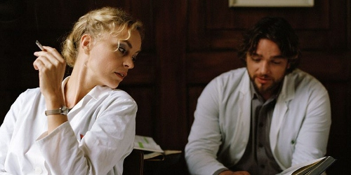 Nina Hoss and Ronald Zehrfeld in 'Barbara'