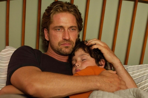 Gerard Butler and Noah Lomax in 'Playing for Keeps'