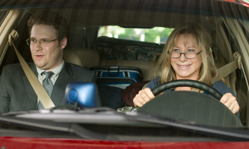 Seth Rogan is tortured by his overbearing mother, Barbara Streisand, in 'The Guilt Trip'
