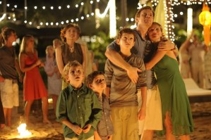 The calm before the wave as the family enjoys Christmas Eve in 'The Impossible'
