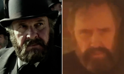 Big beards in 'The Lone Ranger' and 'The Legend of the Lone Ranger' in the form of Tom Wilkinson (left) and Jason Robards
