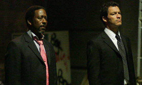 Clarke Peters and Dominic West in 'The Wire'