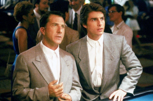 Dustin Hoffman and Tom Cruise in a scene from 'Rain Man'