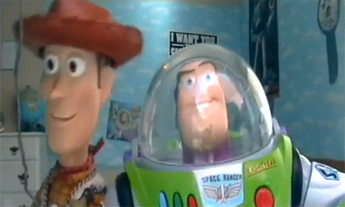 Two teenage fans of 'Toy Story' have remade the film using real toys for a very fun live action version of the classic Pixar film