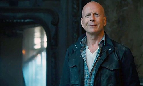 Bruce Willis spits out one-liners in 'A Good Day to Die Hard' like he doesn't even care