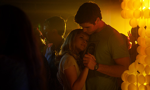 Teresa Palmer and Liam Hemsworth in 'Love and Honor'