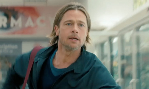 Brad Pitt fights to protect his family in 'World War Z'