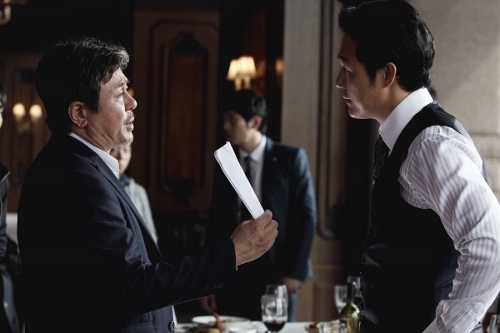 Choi Min-sik (left) and Lee Jung-jae (right) play a dangerous game of justice and corruption in 'New World'
